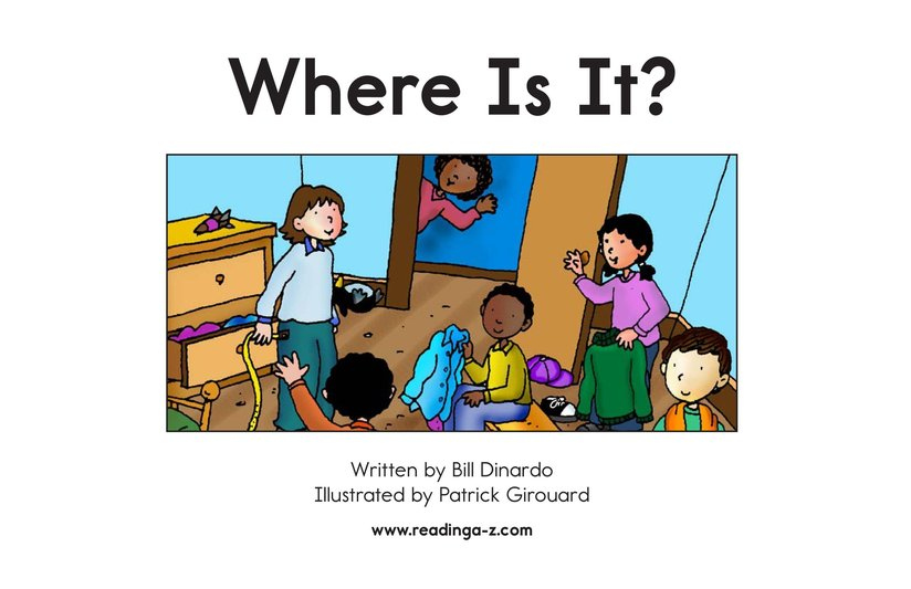 Book Preview For Where Is It? Page 2