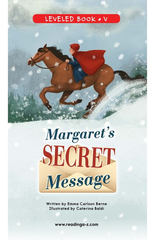 Book Preview For Margaret's Secret Message Page 0