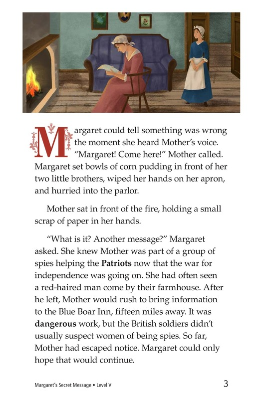 Book Preview For Margaret's Secret Message Page 3