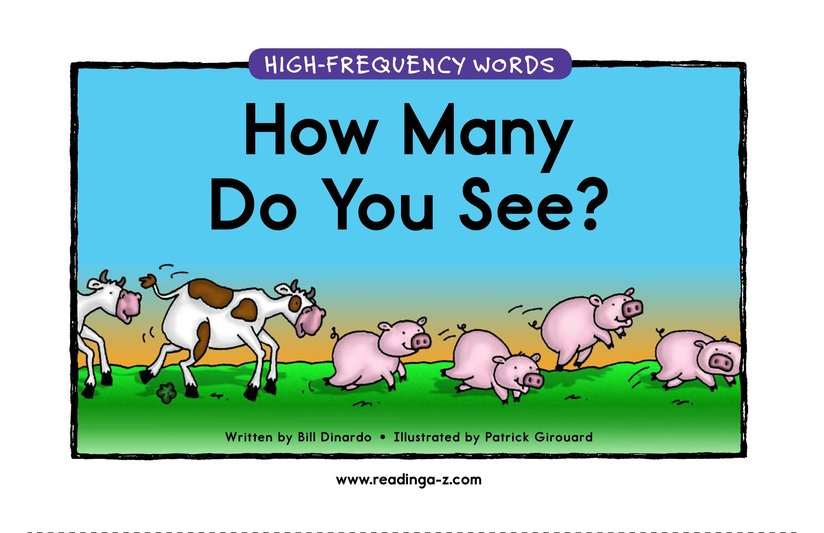 Book Preview For How Many Do You See? Page 1