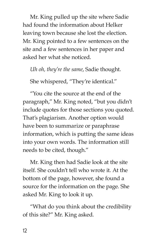 Book Preview For Sadie's Incredible Essay Page 12