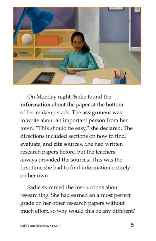 Book Preview For Sadie's Incredible Essay Page 5