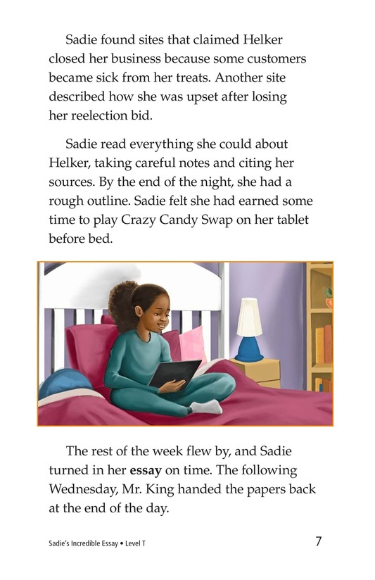 Book Preview For Sadie's Incredible Essay Page 7