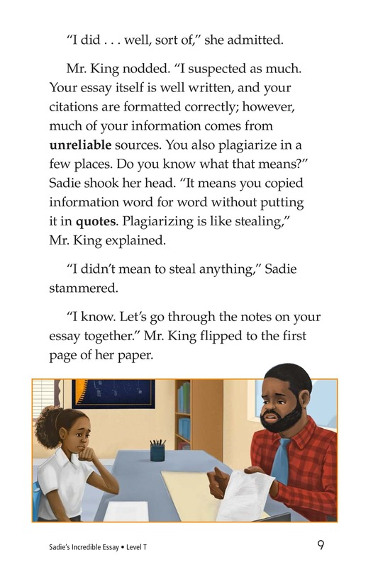 Book Preview For Sadie's Incredible Essay Page 9