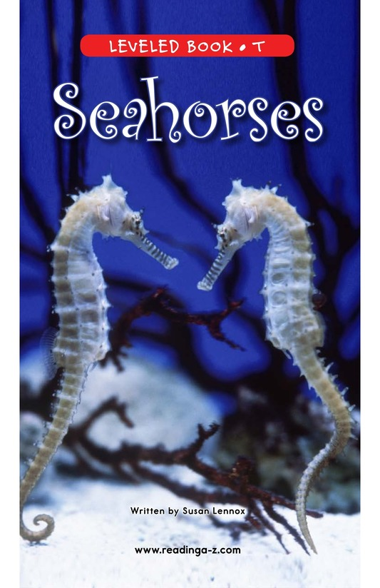 Book Preview For Seahorses Page 0