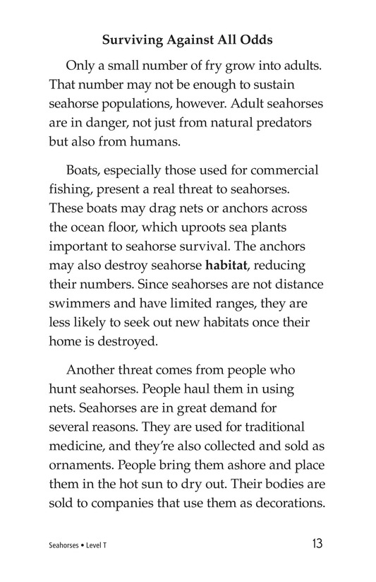 Book Preview For Seahorses Page 13