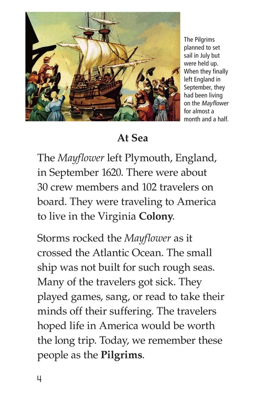 Book Preview For The Story of the Mayflower Page 4