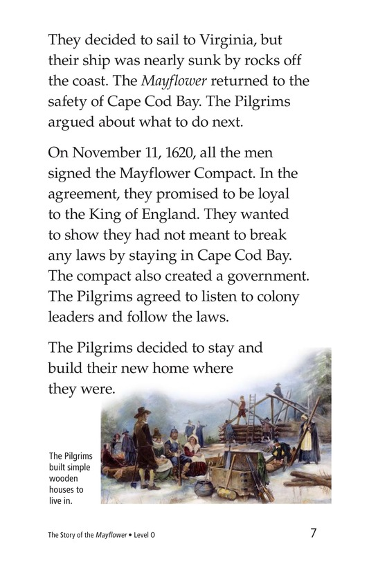 Book Preview For The Story of the Mayflower Page 7