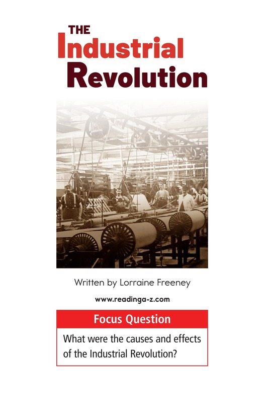 Book Preview For The Industrial Revolution Page 1