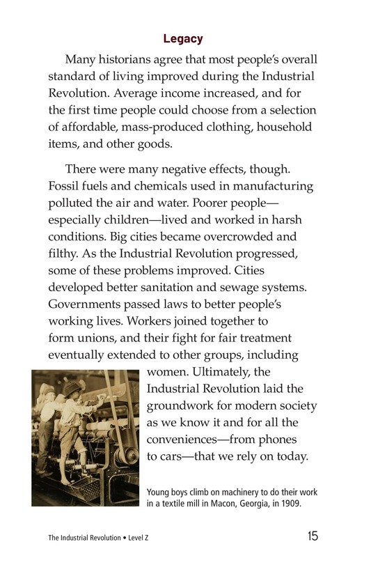 Book Preview For The Industrial Revolution Page 15