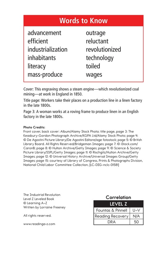 Book Preview For The Industrial Revolution Page 2