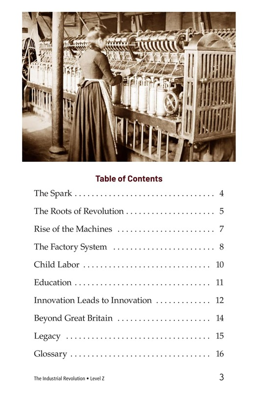 Book Preview For The Industrial Revolution Page 3