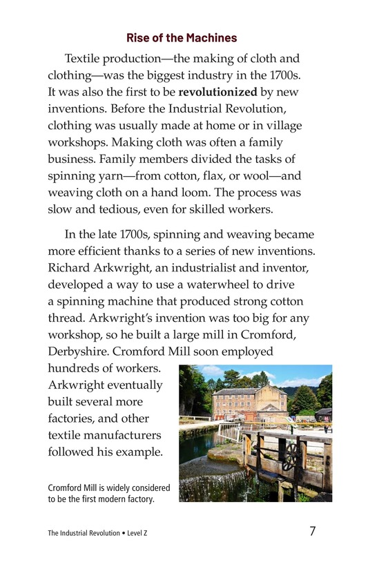 Book Preview For The Industrial Revolution Page 7