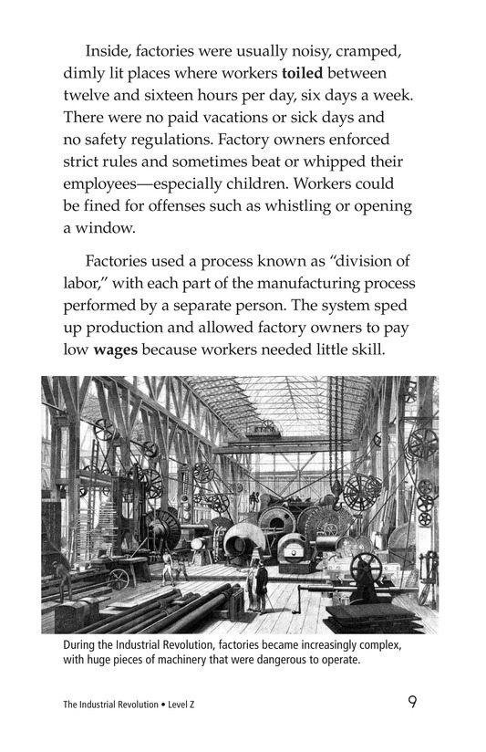 Book Preview For The Industrial Revolution Page 9