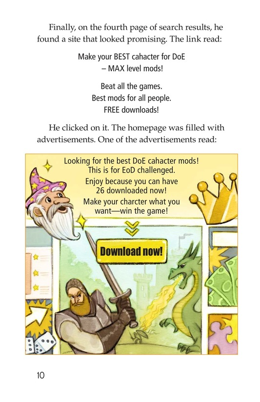 Book Preview For Dungeons and Downloads Page 10