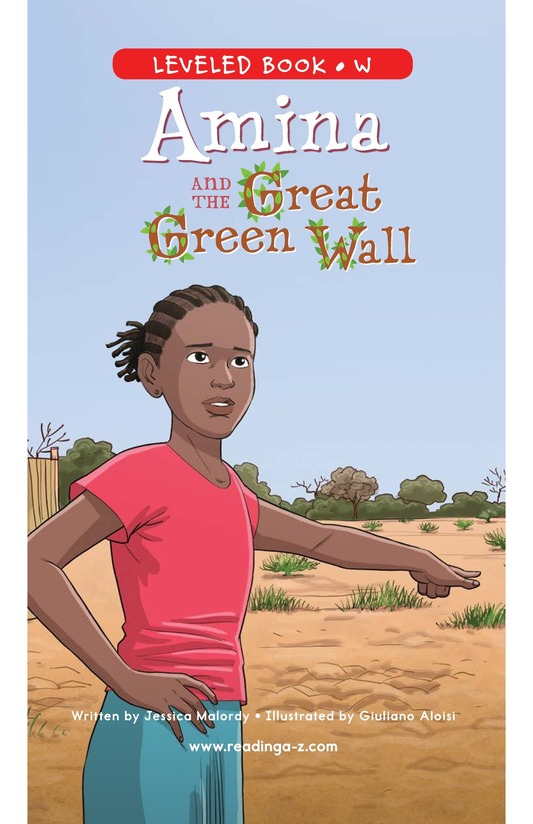 Book Preview For Amina and the Great Green Wall Page 0