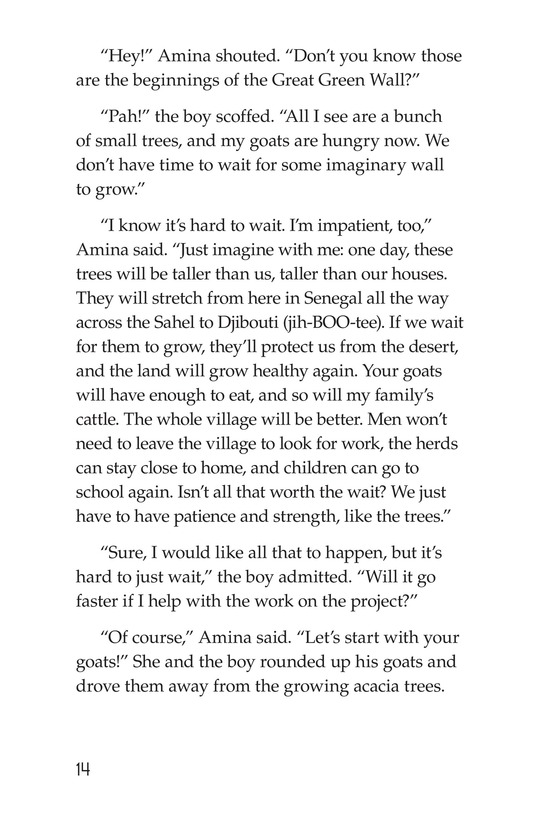 Book Preview For Amina and the Great Green Wall Page 14