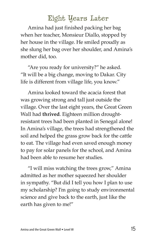 Book Preview For Amina and the Great Green Wall Page 15