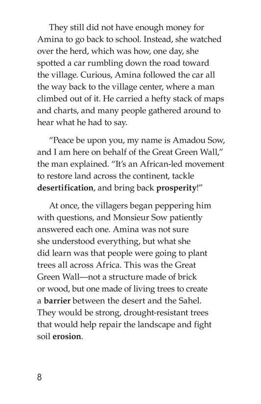 Book Preview For Amina and the Great Green Wall Page 8