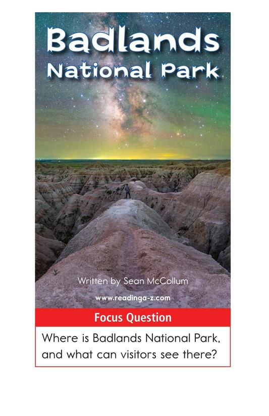 Book Preview For Badlands National Park Page 1