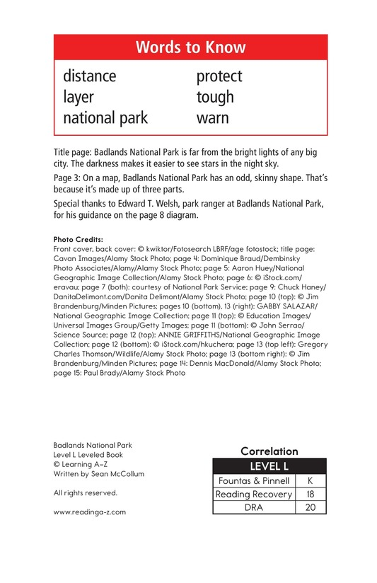 Book Preview For Badlands National Park Page 2