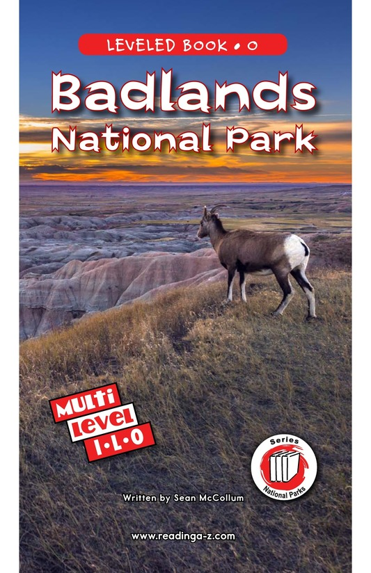 Book Preview For Badlands National Park Page 0