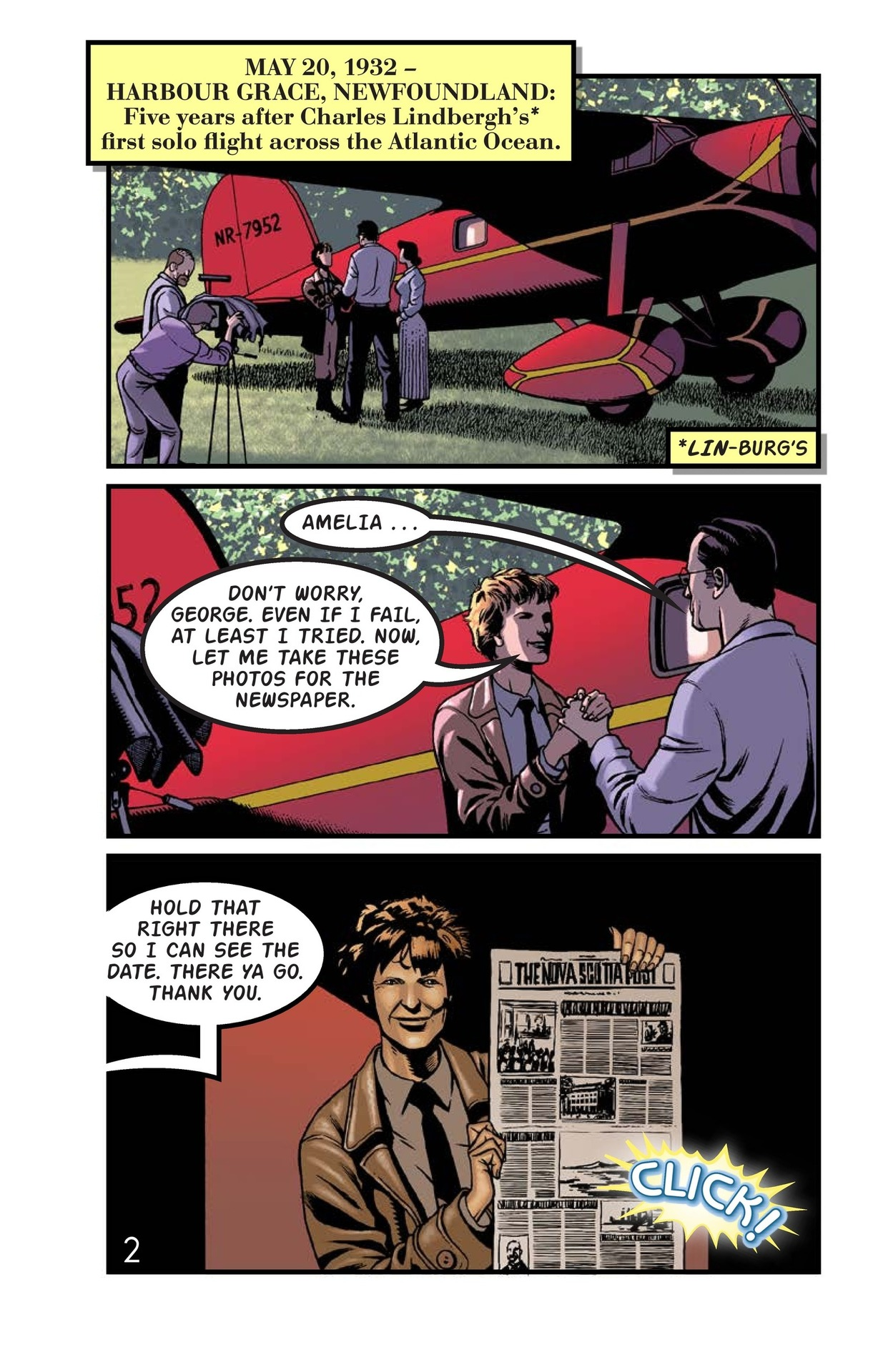 Book Preview For Amelia Earhart Across the Atlantic Page 3