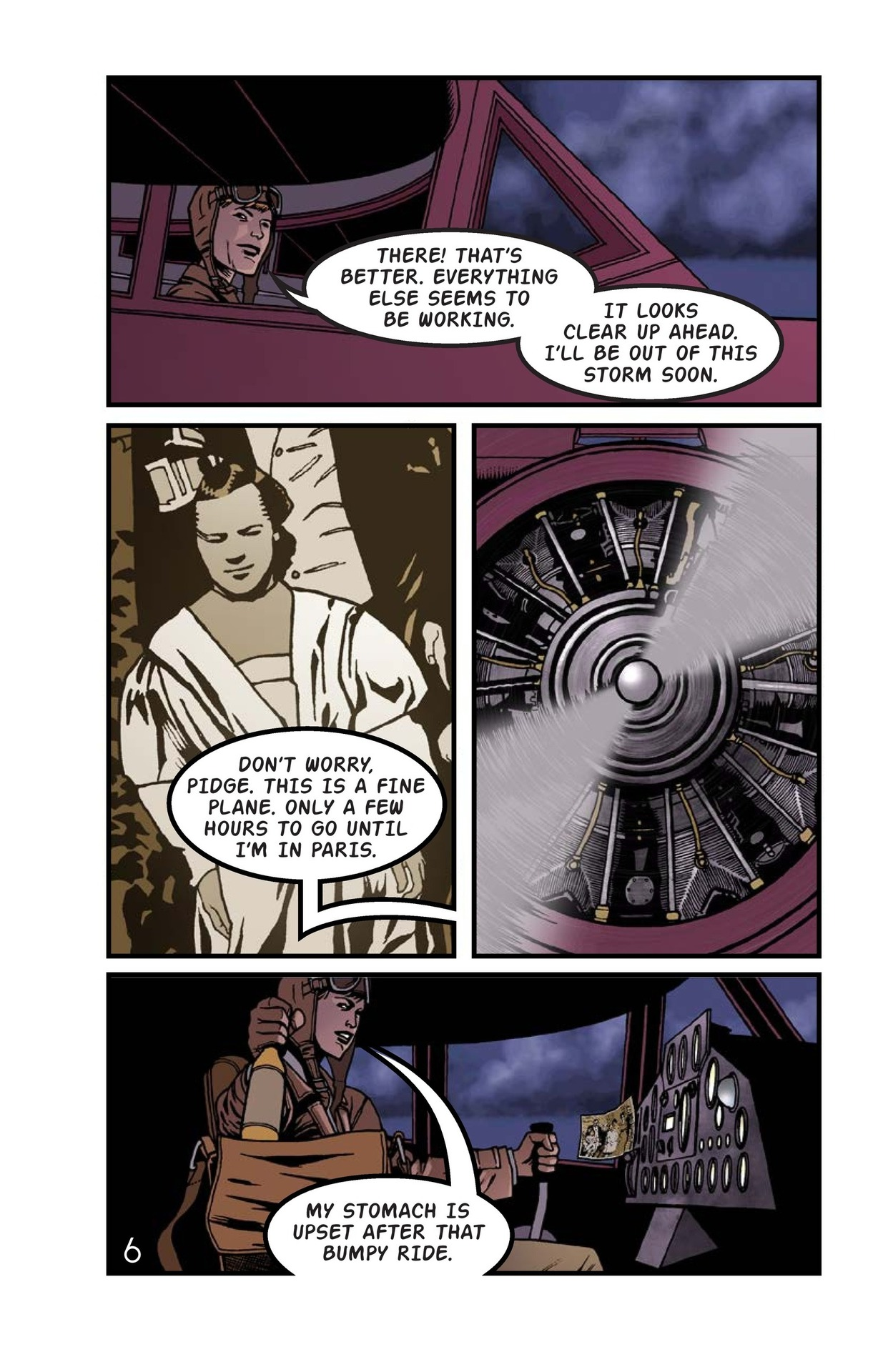 Book Preview For Amelia Earhart Across the Atlantic Page 7