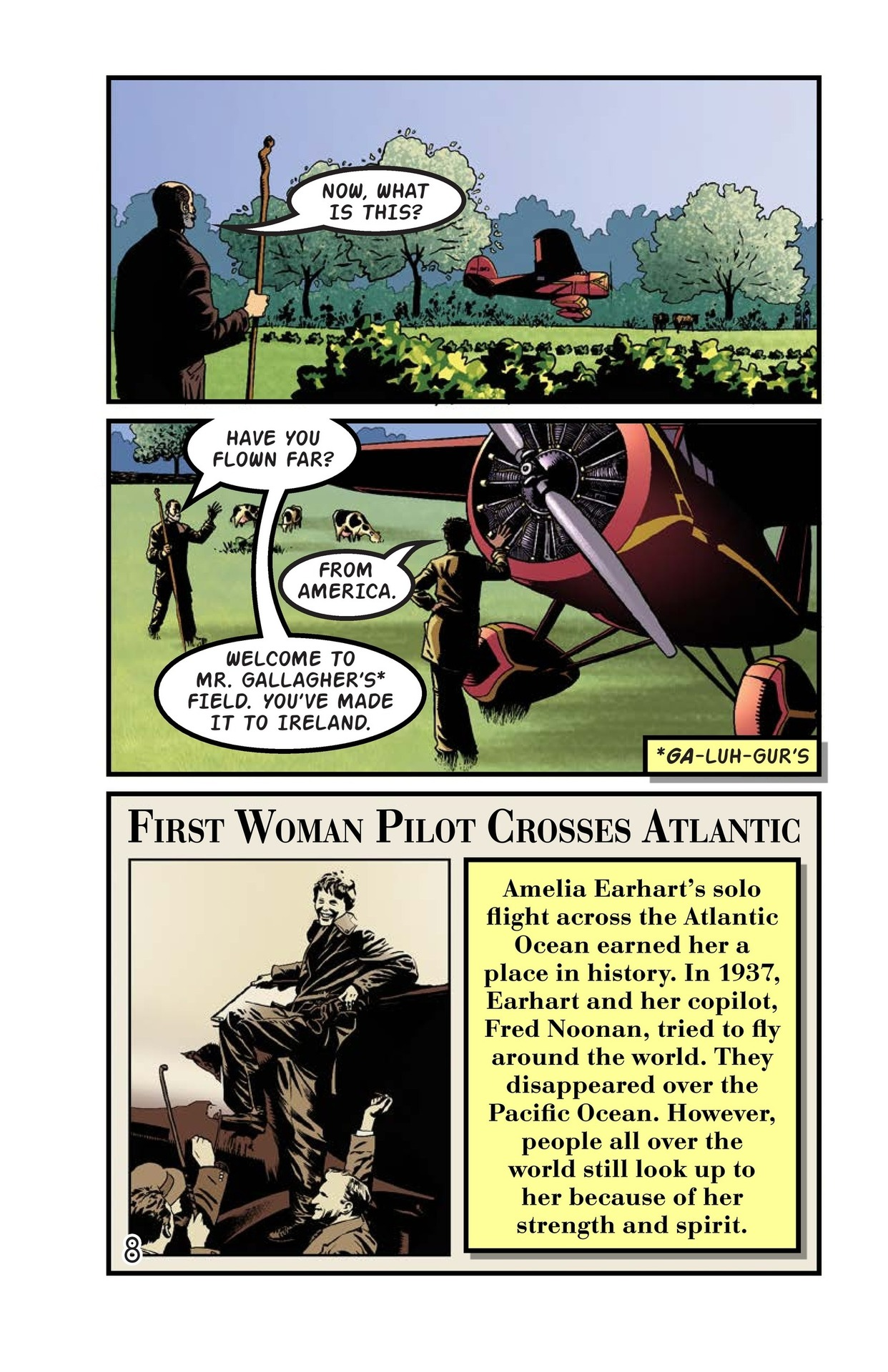 Book Preview For Amelia Earhart Across the Atlantic Page 9