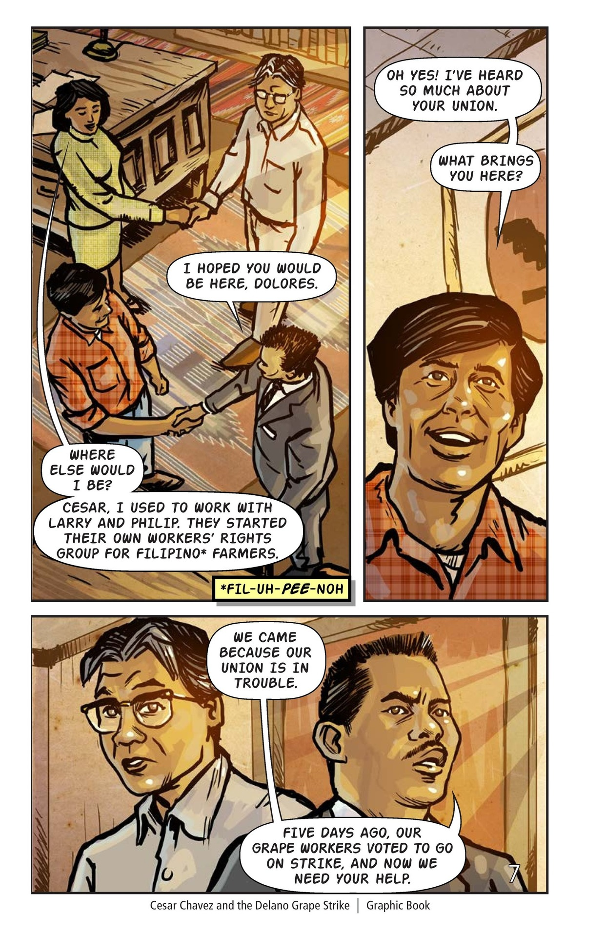 Book Preview For Cesar Chavez and the Delano Grape Strike Page 8