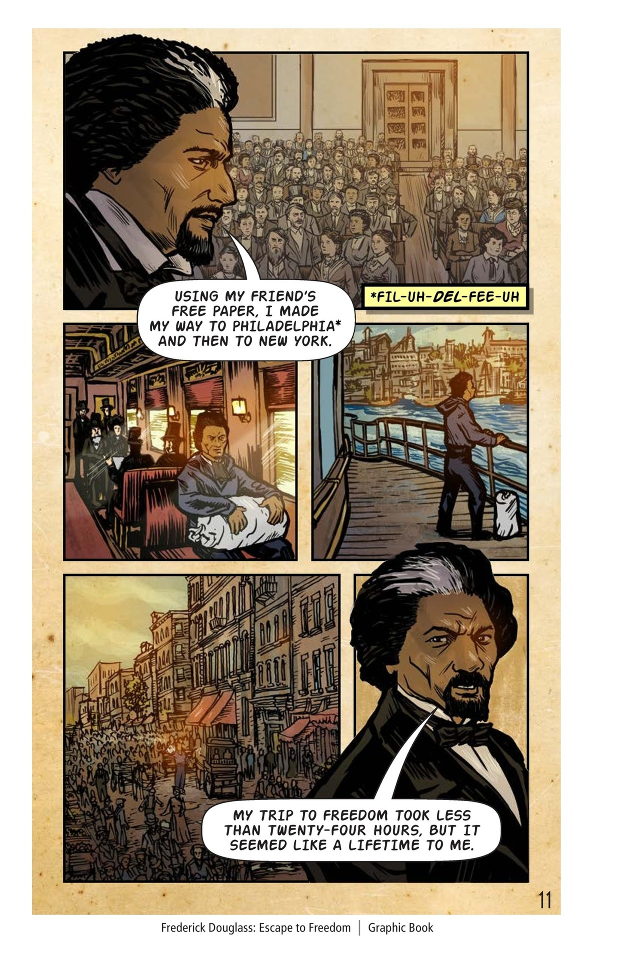 Book Preview For Frederick Douglass: Escape to Freedom Page 12