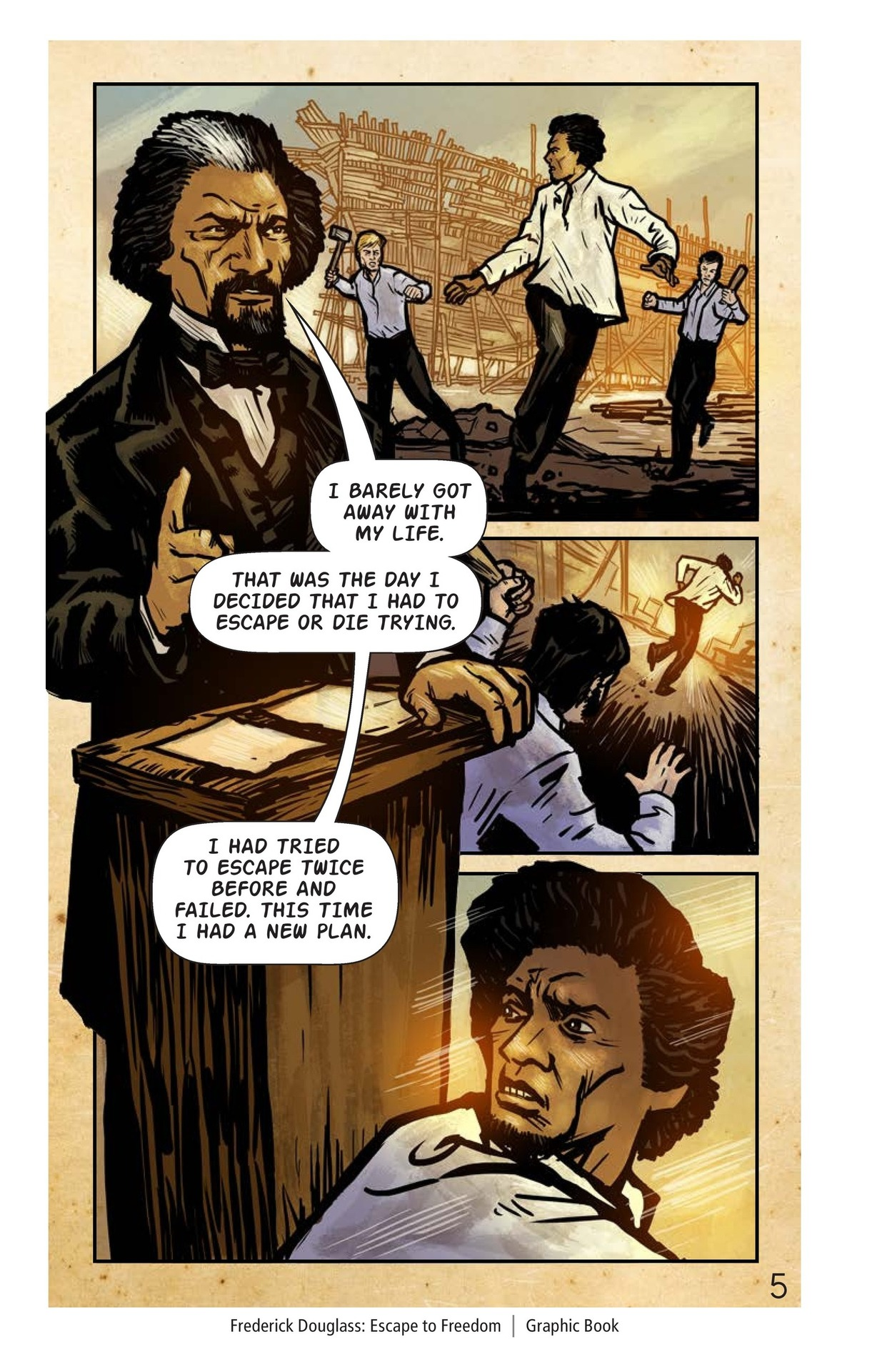 Book Preview For Frederick Douglass: Escape to Freedom Page 6