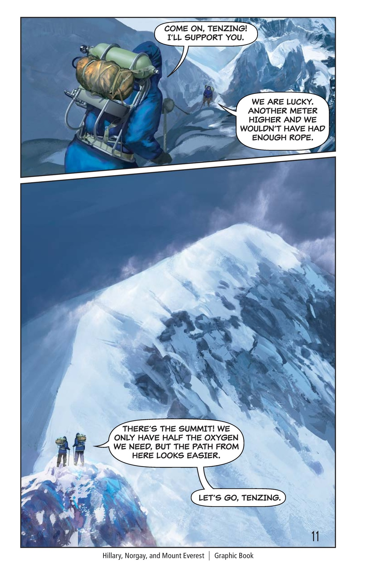 Book Preview For Hilary, Norgay, and Mount Everest Page 12