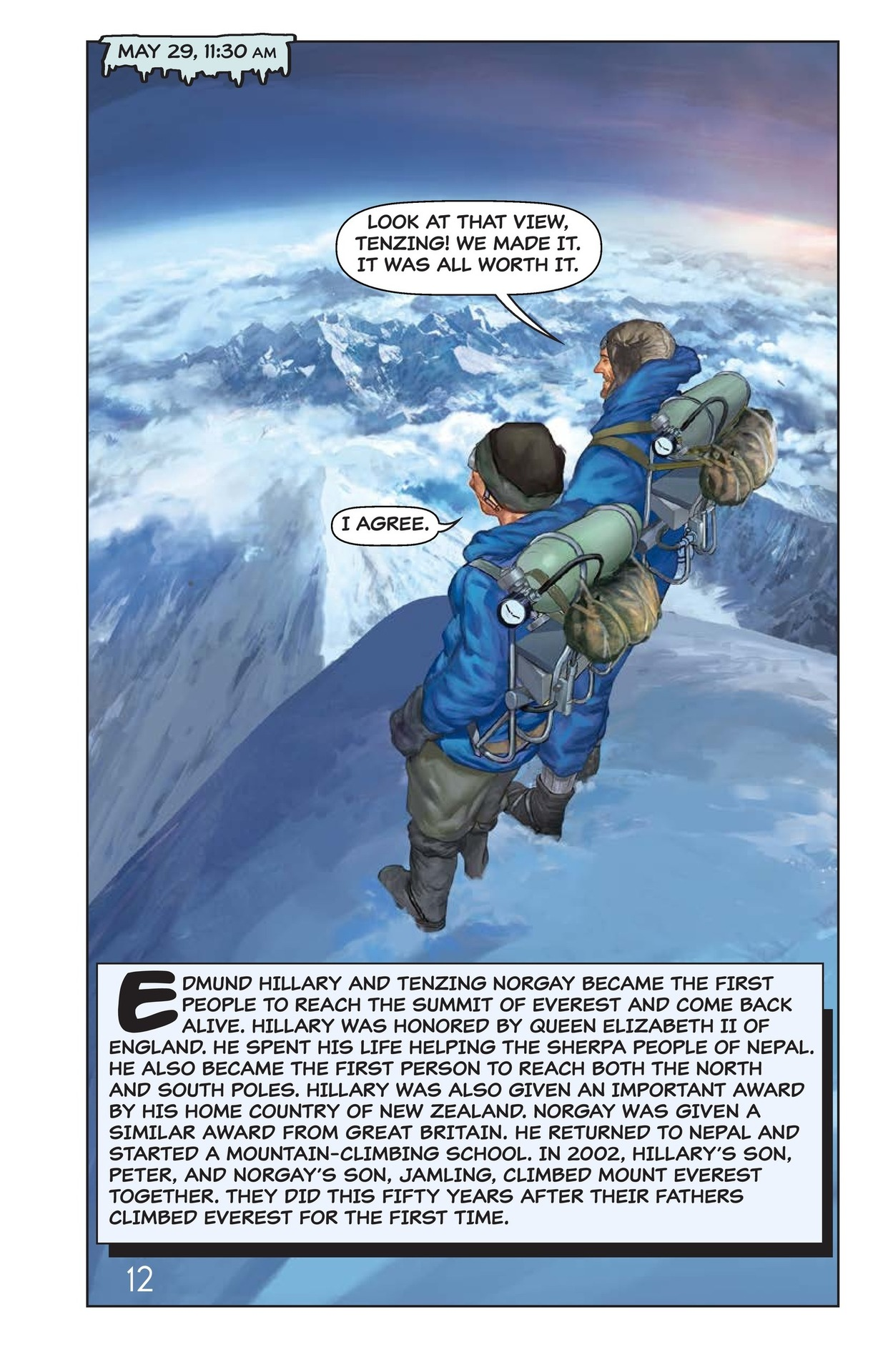 Book Preview For Hilary, Norgay, and Mount Everest Page 13