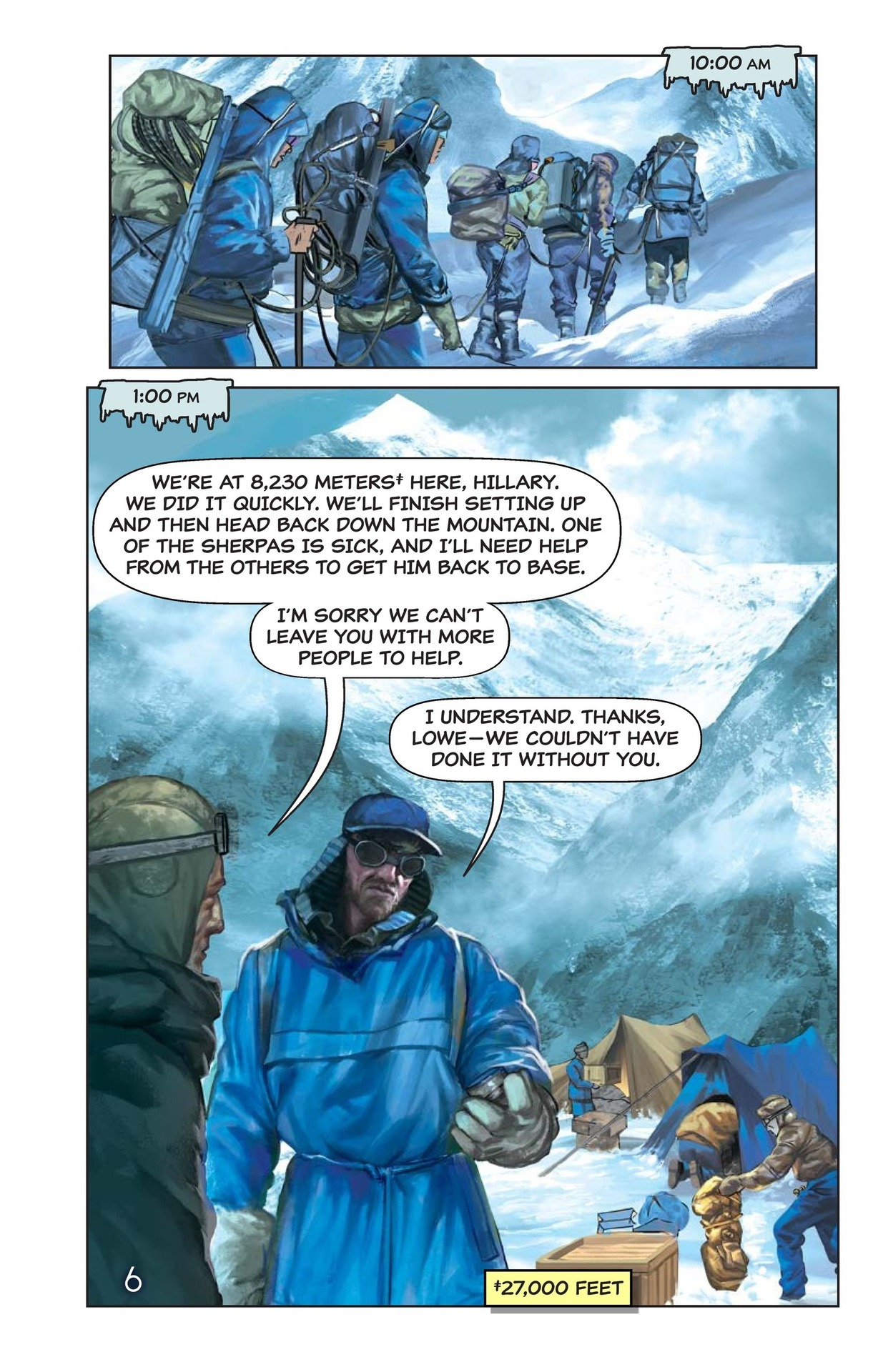 Book Preview For Hilary, Norgay, and Mount Everest Page 7