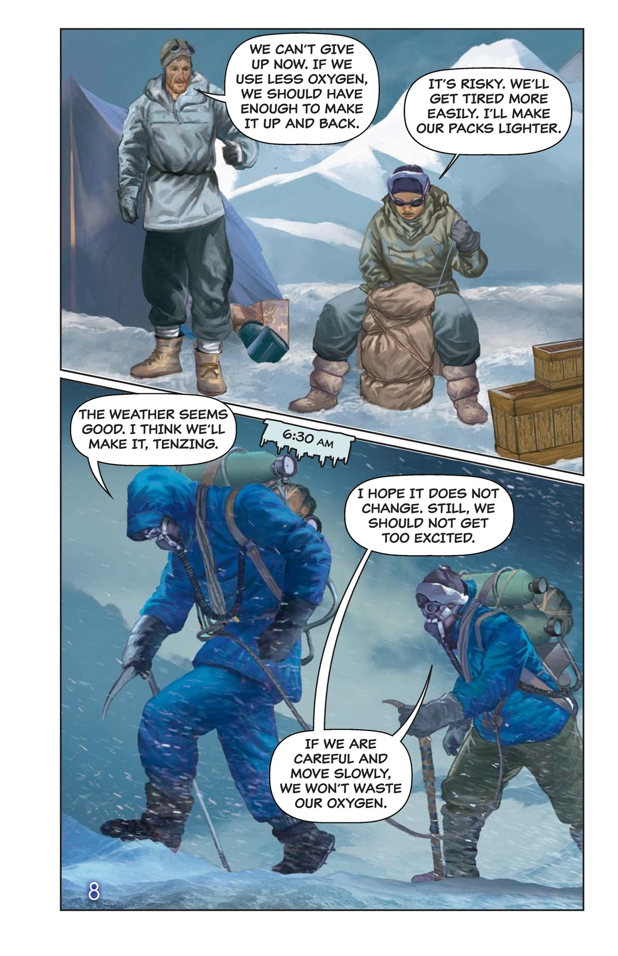 Book Preview For Hilary, Norgay, and Mount Everest Page 9