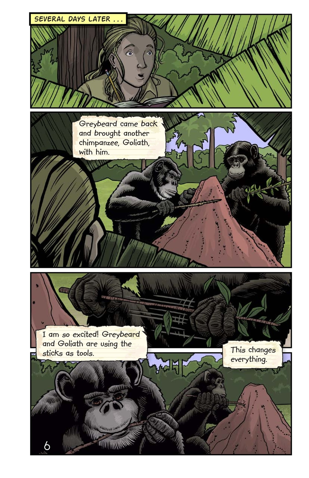 Book Preview For Jane and the Chimpanzees Page 7