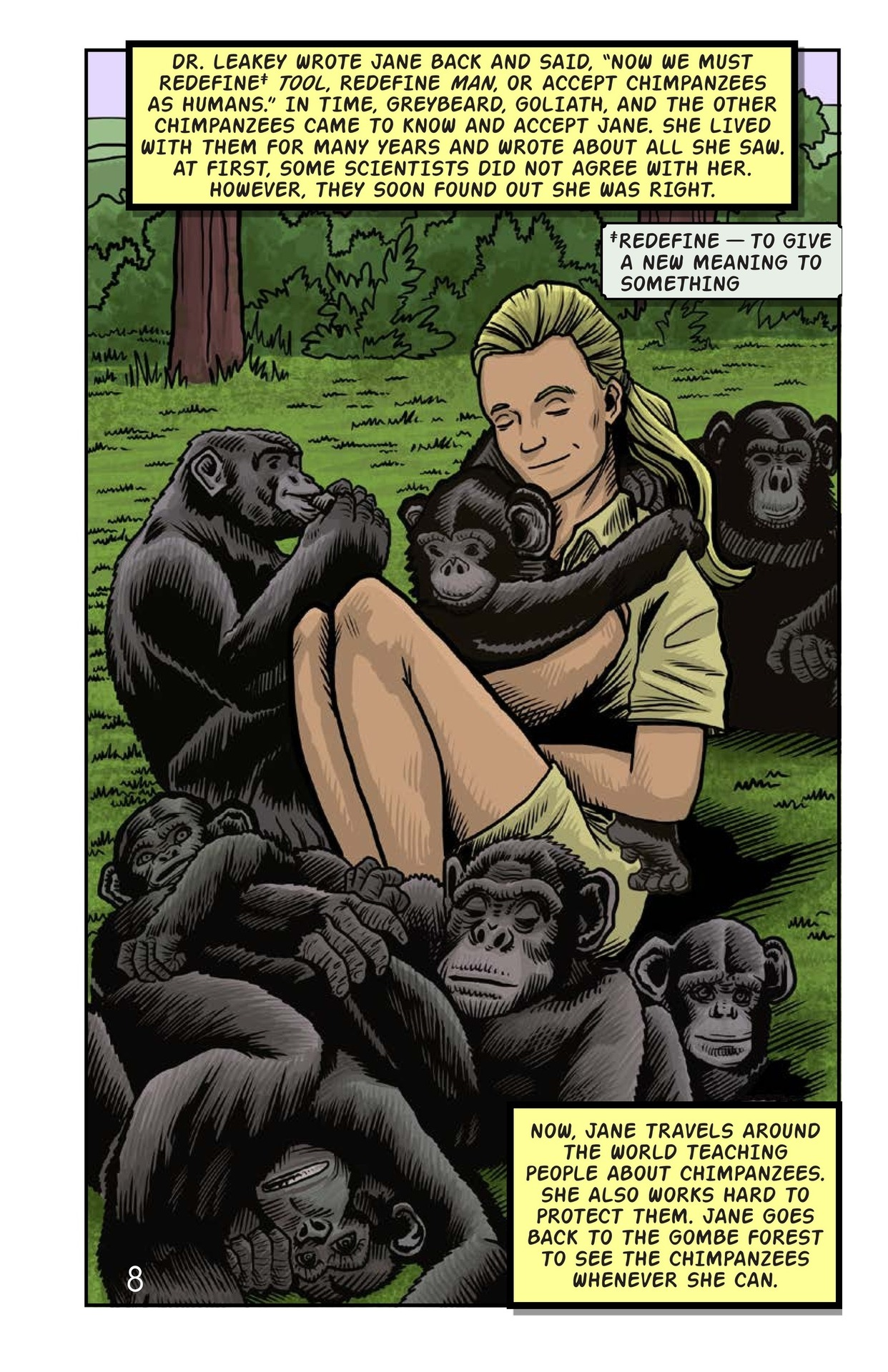 Book Preview For Jane and the Chimpanzees Page 9
