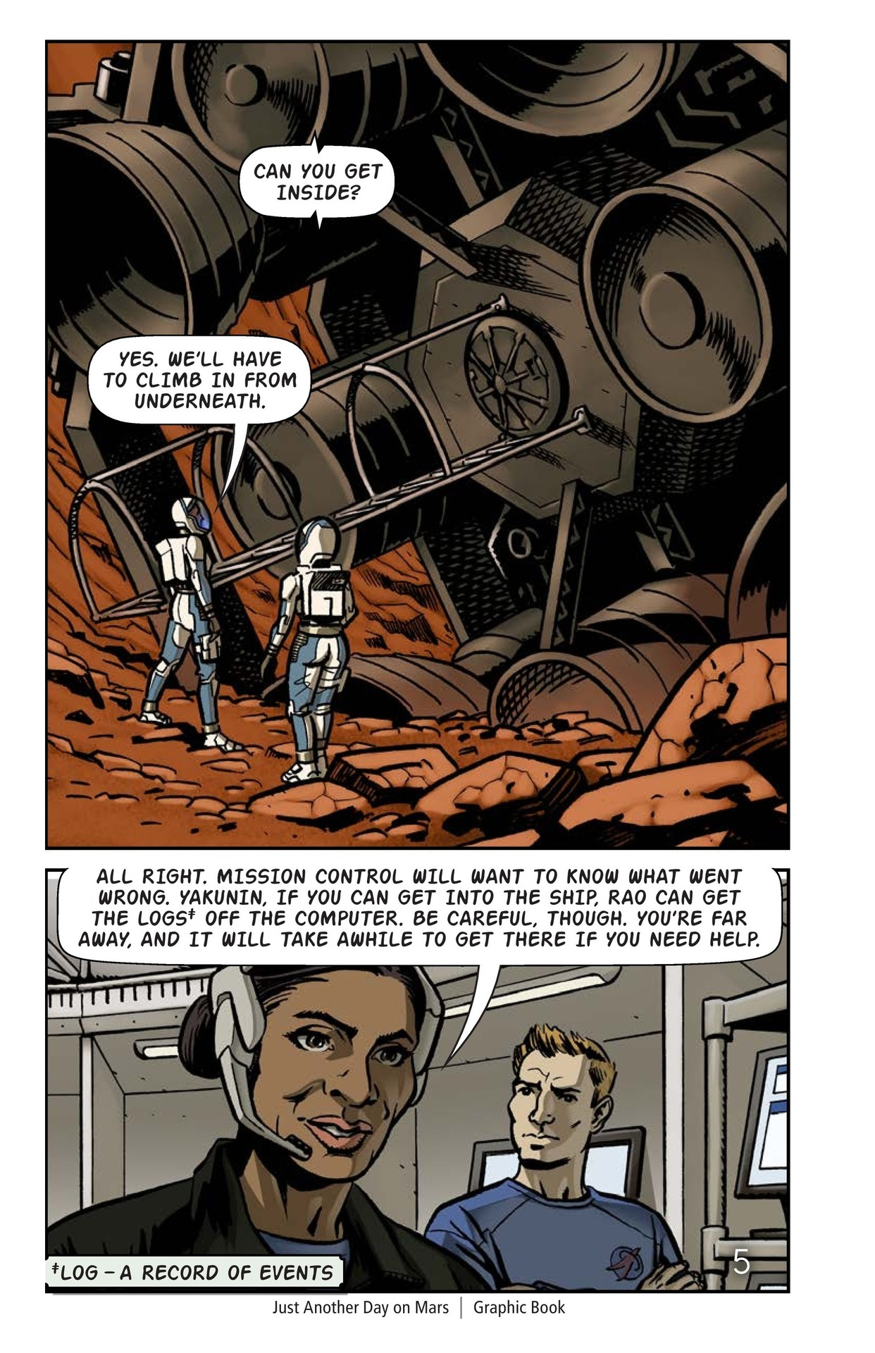 Book Preview For Just Another Day on Mars Page 6