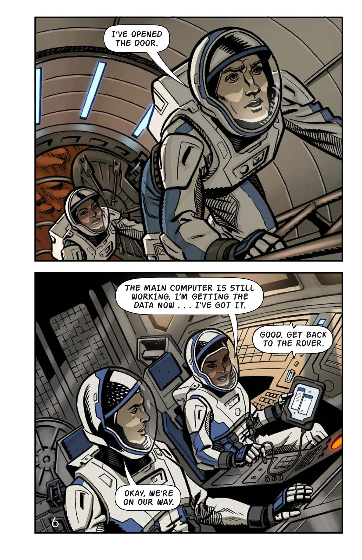 Book Preview For Just Another Day on Mars Page 7