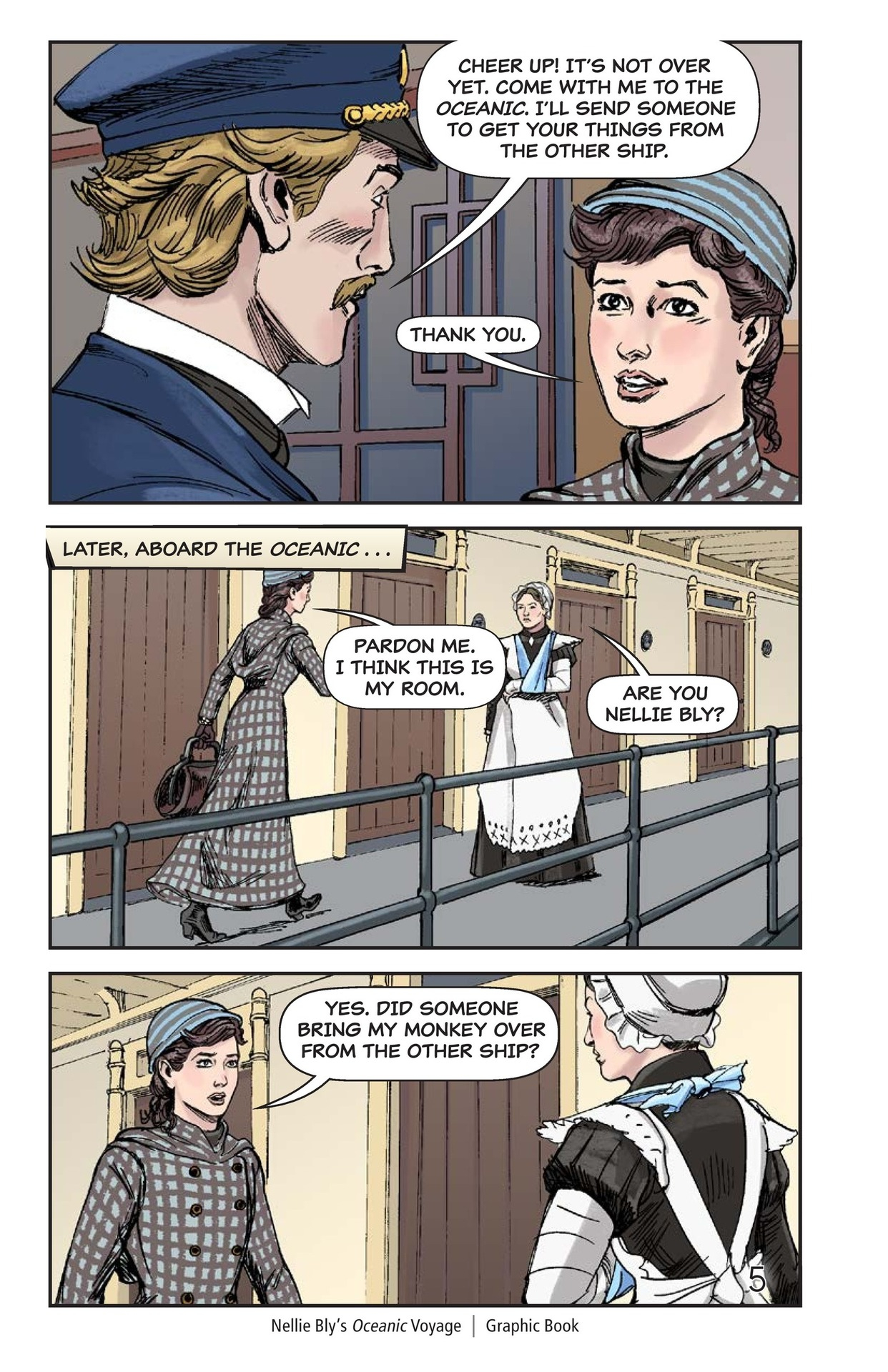Book Preview For Nellie Bly's Oceanic Voyage Page 6