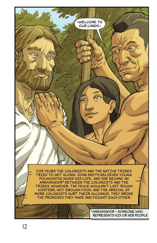 Book Preview For Pocahontas Saves John Smith Page 12