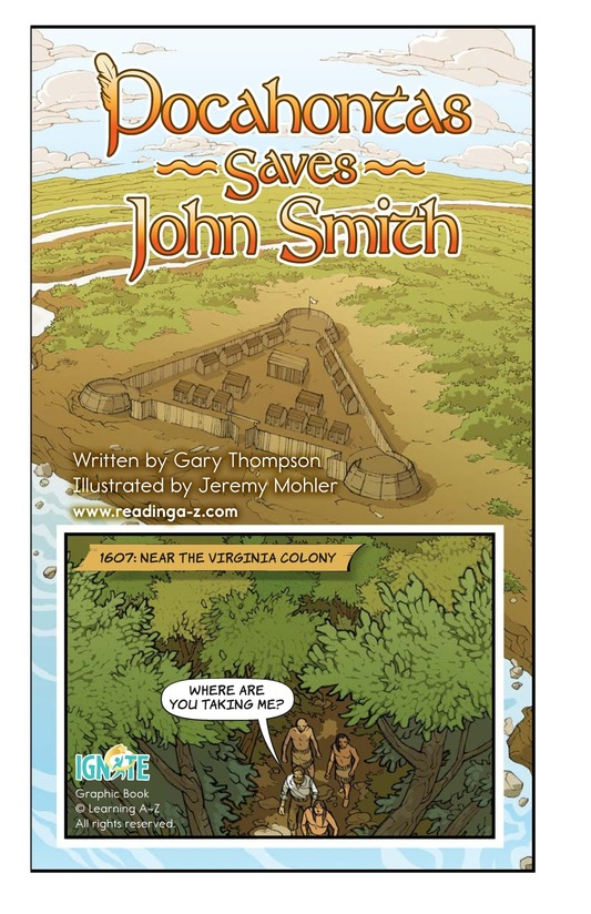 Book Preview For Pocahontas Saves John Smith Page 2
