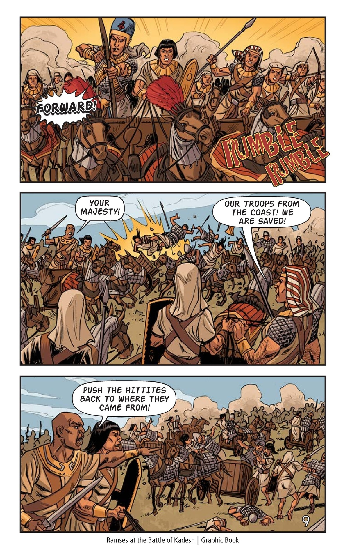Book Preview For Ramses at the Battle of Kadesh Page 10
