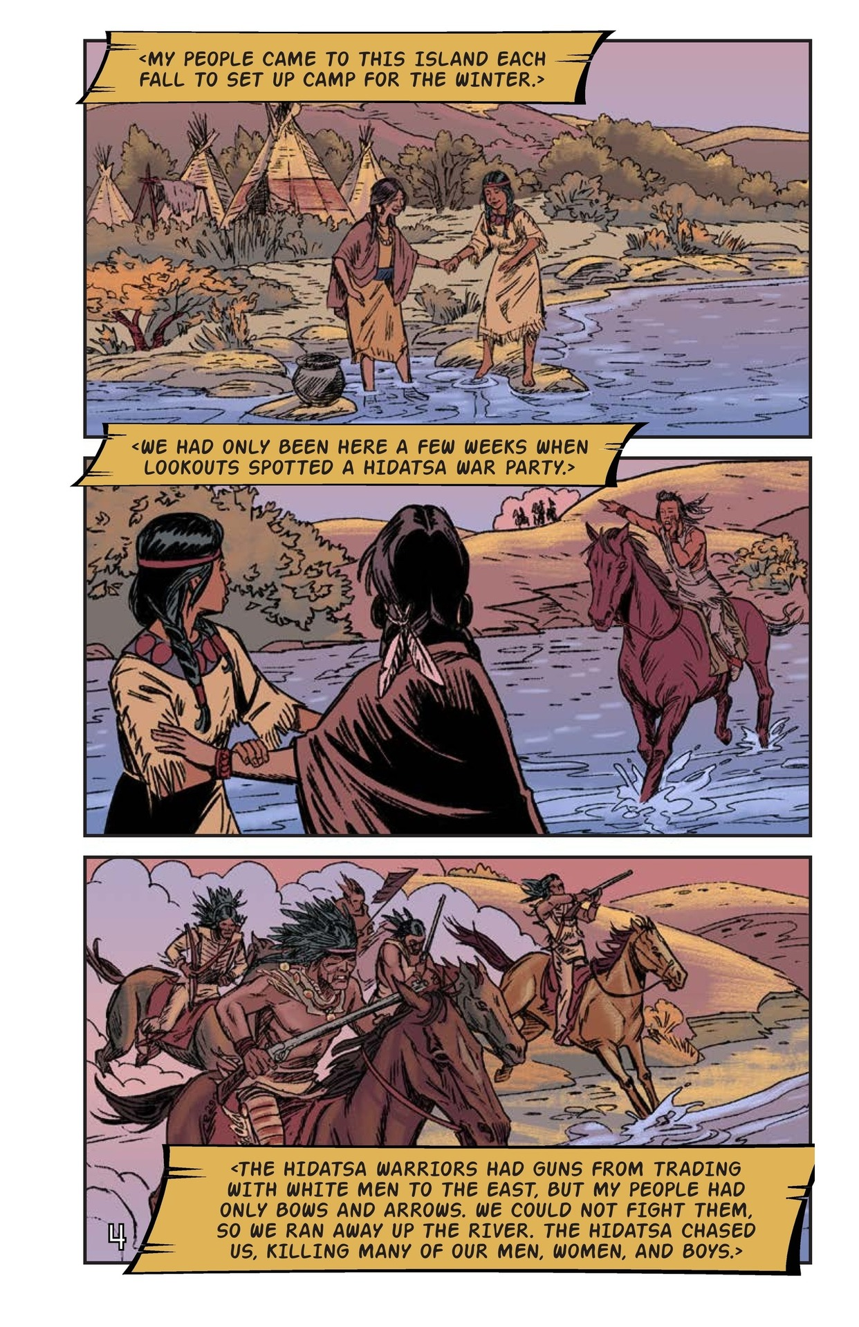 Book Preview For Sacagawea: The Long Road Home Page 5
