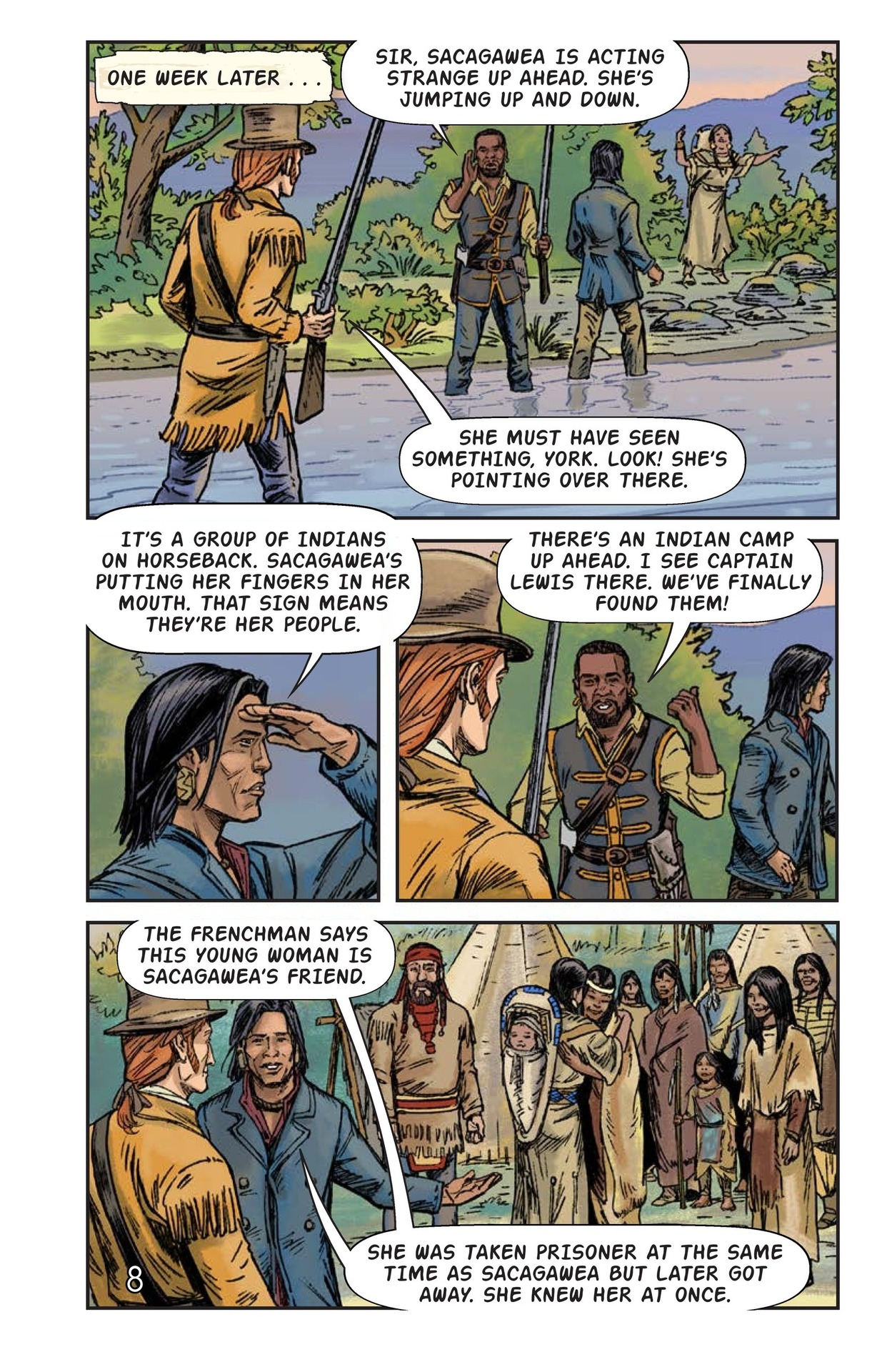 Book Preview For Sacagawea: The Long Road Home Page 9