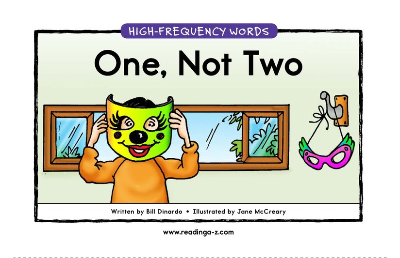 Book Preview For One, Not Two Page 1