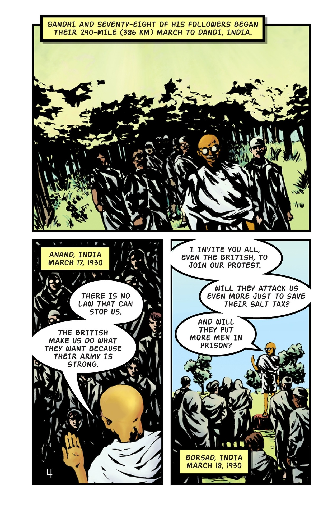 Book Preview For The Great Salt March of Gandhi Page 5