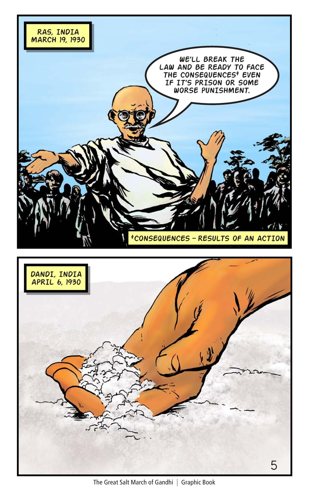 Book Preview For The Great Salt March of Gandhi Page 6