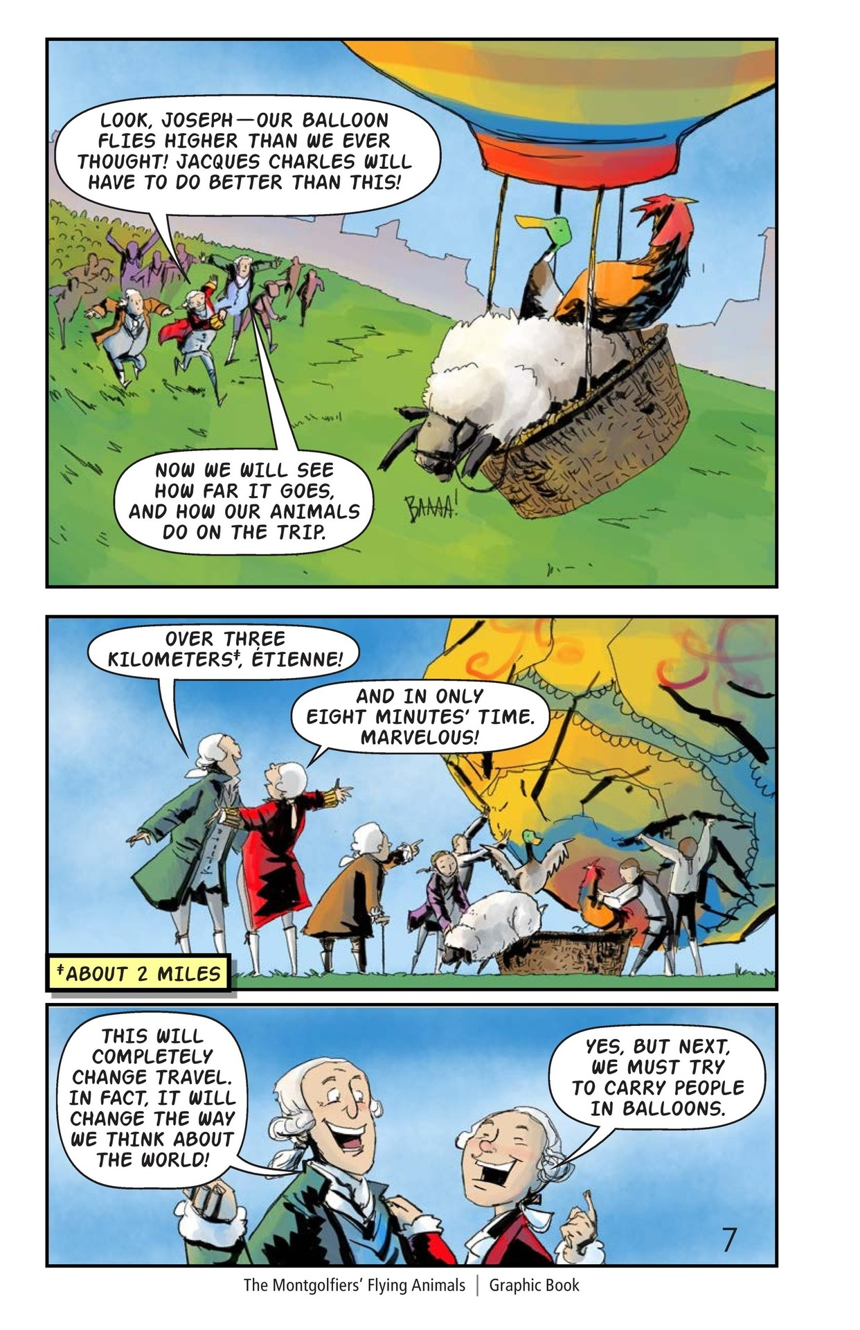 Book Preview For The Montgolfiers' Flying Animals Page 8